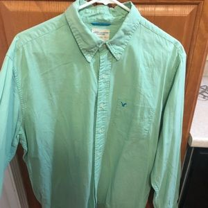 American Eagle Outfitters Shirts - Mint green oxford shirt